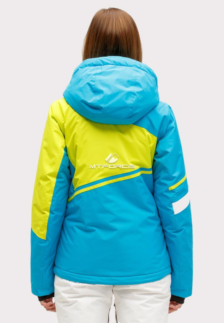 Купить оптом Куртка горнолыжная женская синего цвета 1811S в Воронеже