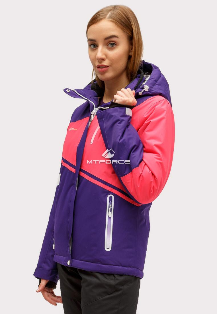 Купить оптом Куртка горнолыжная женская темно-фиолетового цвета 1811TF