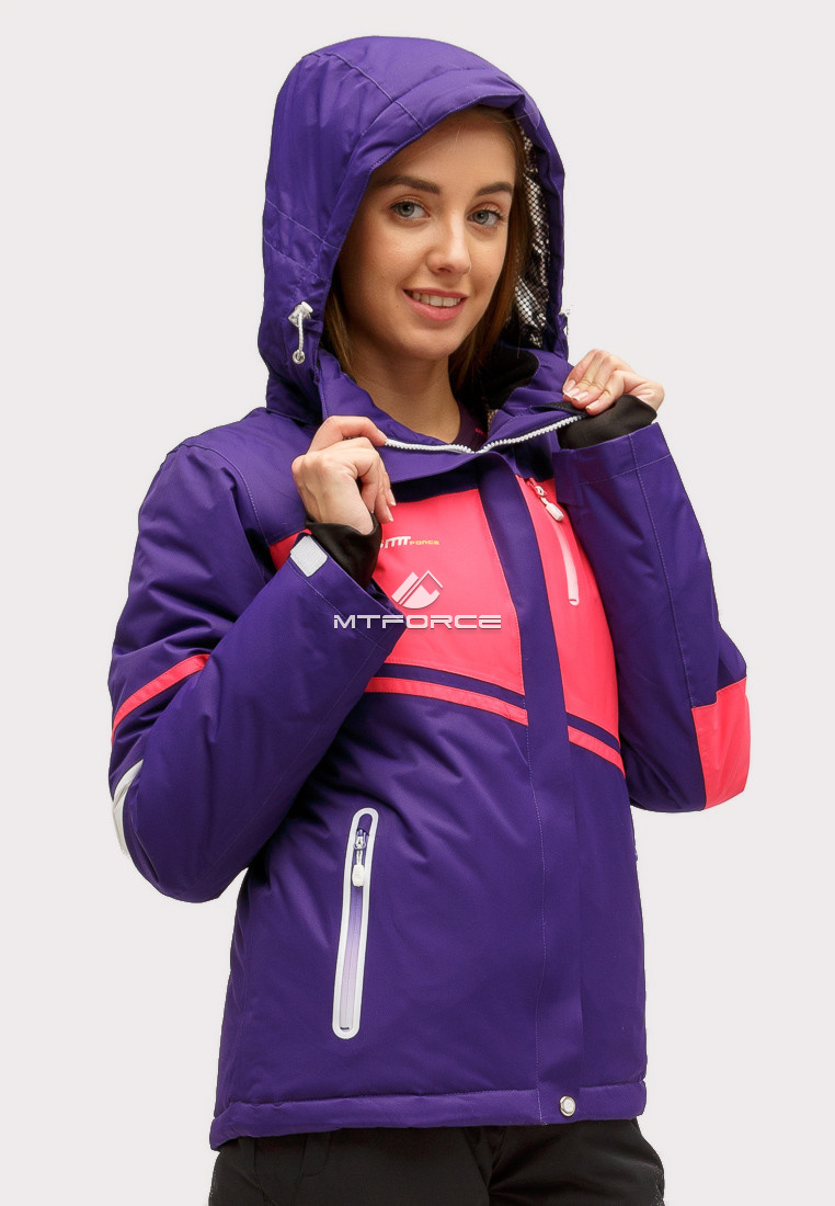Купить оптом Костюм горнолыжный женский темно-фиолетового цвета 01811TF