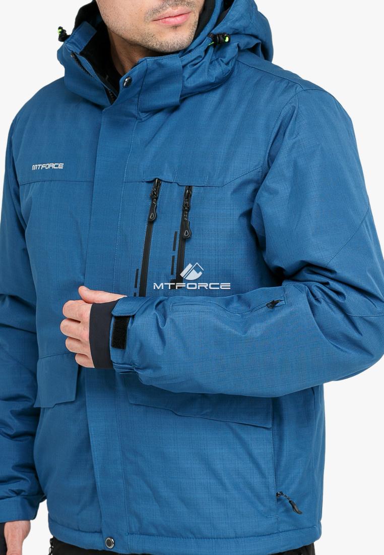 Купить оптом Костюм горнолыжный мужской голубого цвета 018122Gl в Екатеринбурге