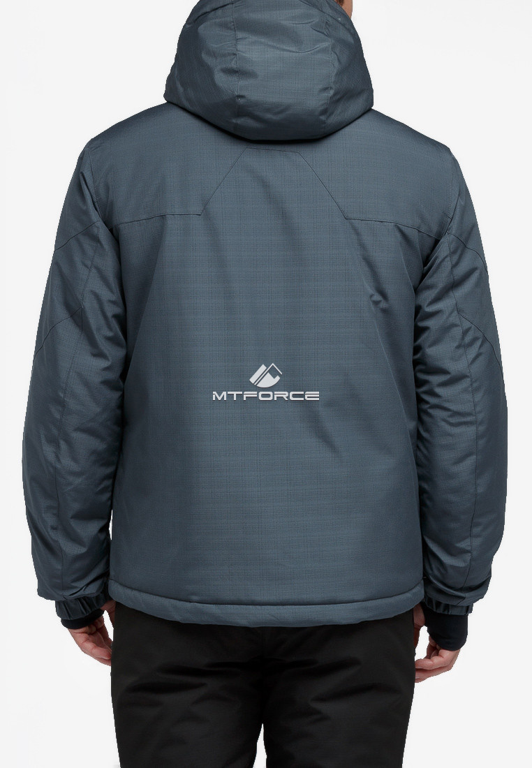 Купить оптом Костюм горнолыжный мужской темно-серого цвета 018122TC