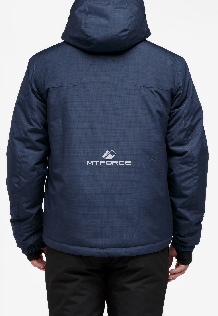 Купить оптом Костюм горнолыжный мужской темно-синего цвета 018122TS в Екатеринбурге