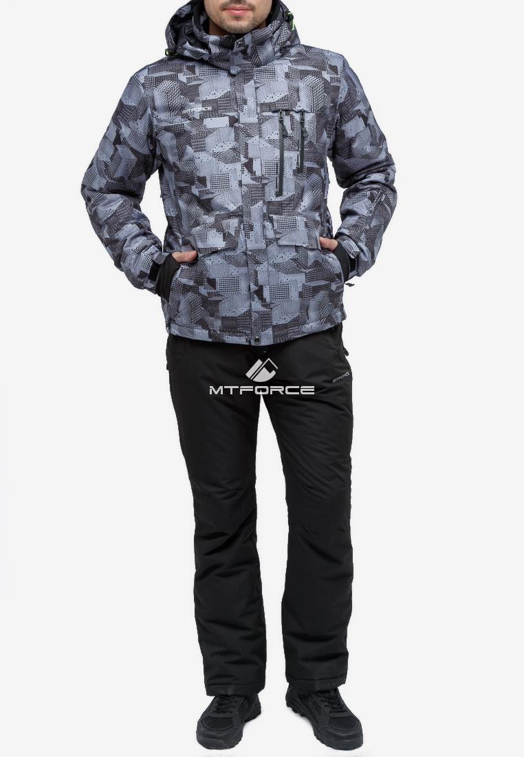 Купить оптом Костюм горнолыжный мужской серого цвета 018122-1Sr