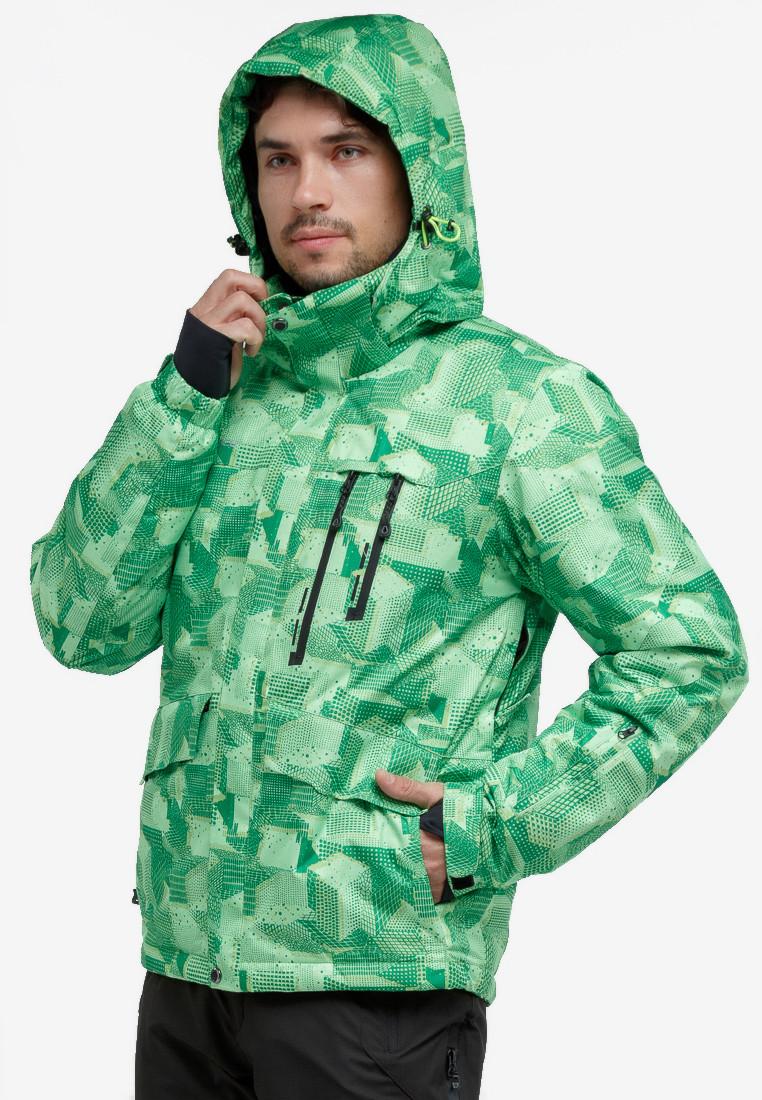 Купить оптом Куртка горнолыжная мужская зеленого цвета 18122-1Z