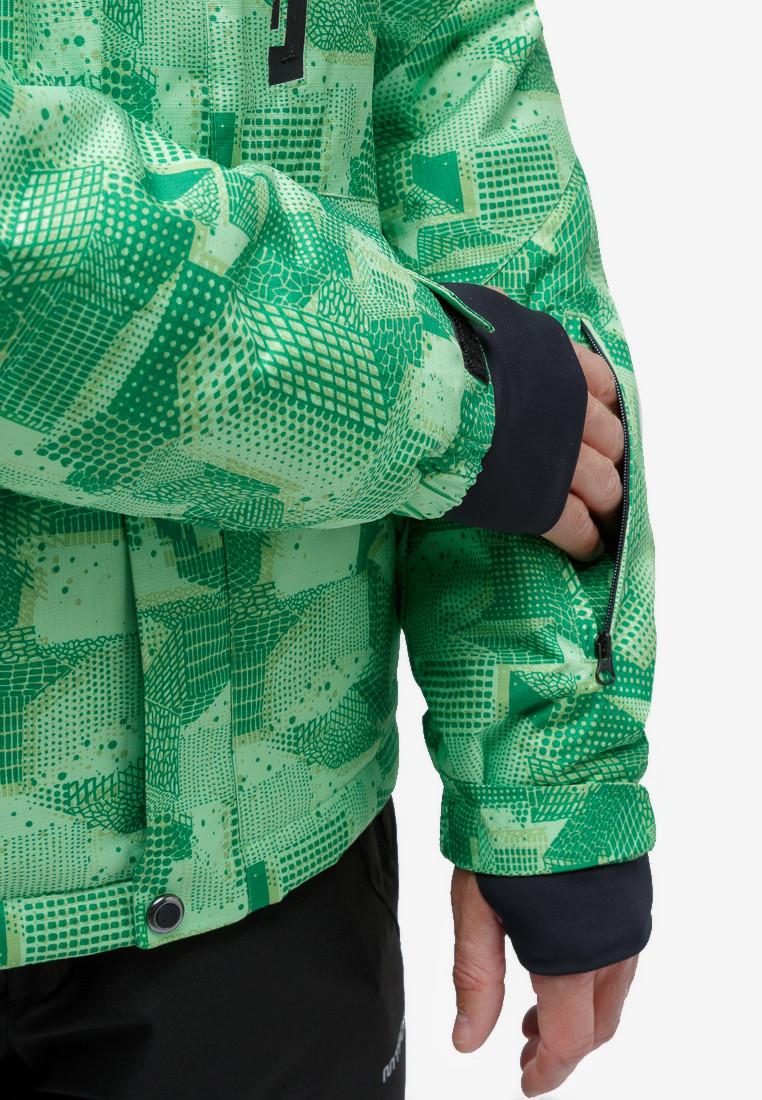 Купить оптом Костюм горнолыжный мужской зеленого цвета 018122-1Z в Санкт-Петербурге