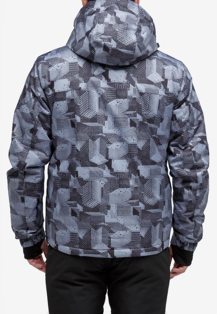 Купить оптом Куртка горнолыжная мужская серого цвета 18122-1Sr в Казани
