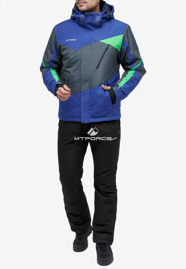 Купить оптом Костюм горнолыжный мужской серый цвета 018123Sr