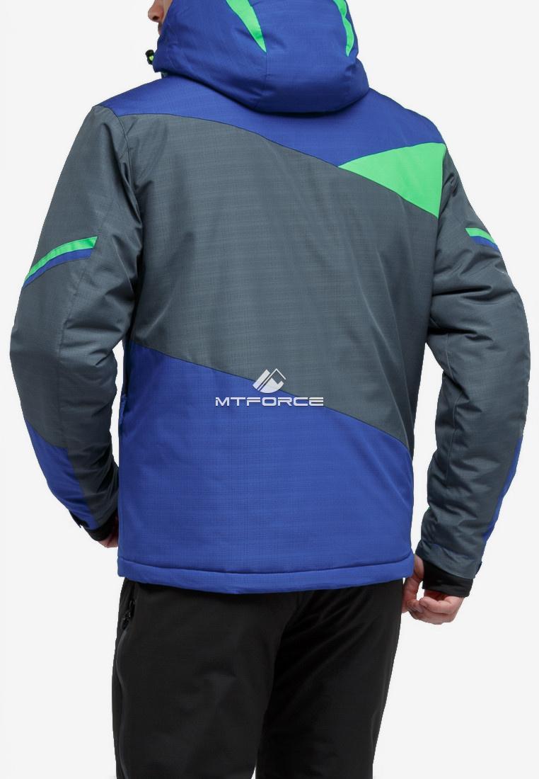 Купить оптом Куртка горнолыжная мужская серого цвета 18123Sr