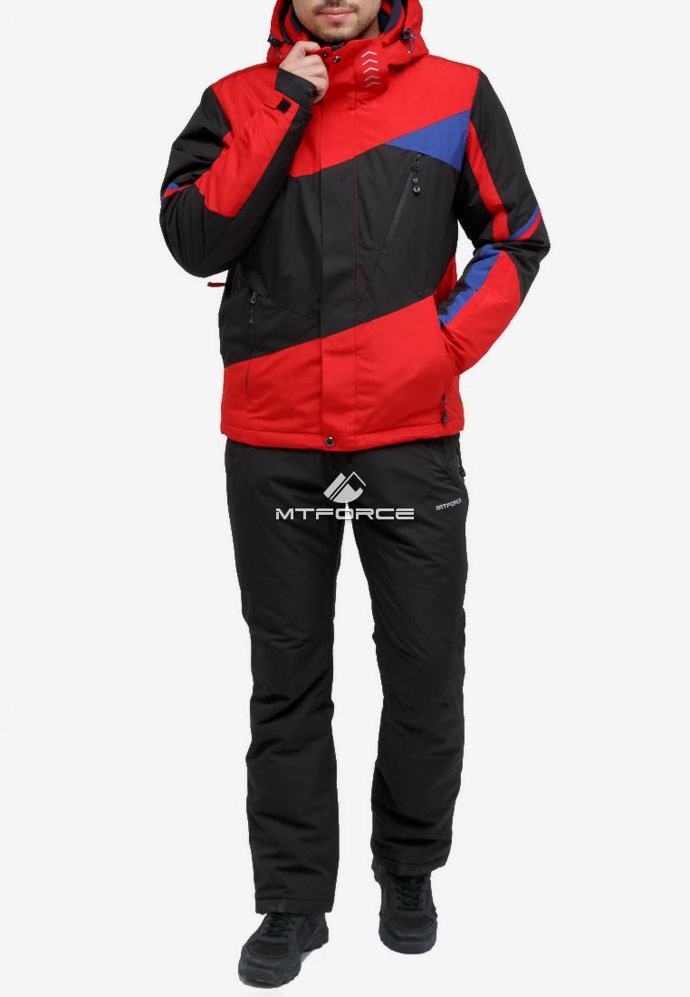 Купить оптом Костюм горнолыжный мужской красного цвета 018123Kr в Нижнем Новгороде