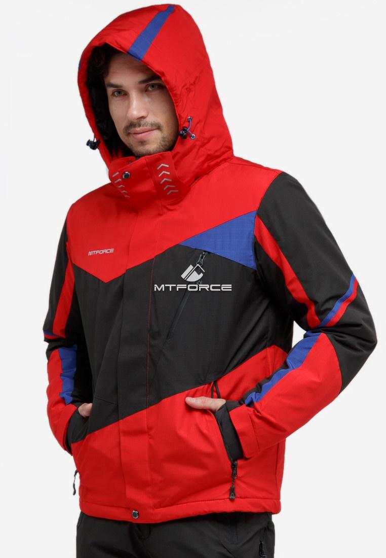 Купить оптом Куртка горнолыжная мужская красного цвета 18123Kr