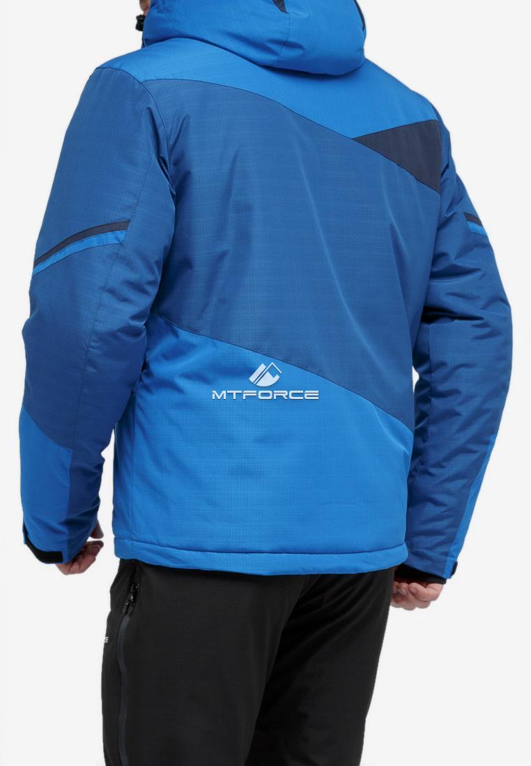 Купить оптом Куртка горнолыжная мужская синего цвета 18123S в Екатеринбурге