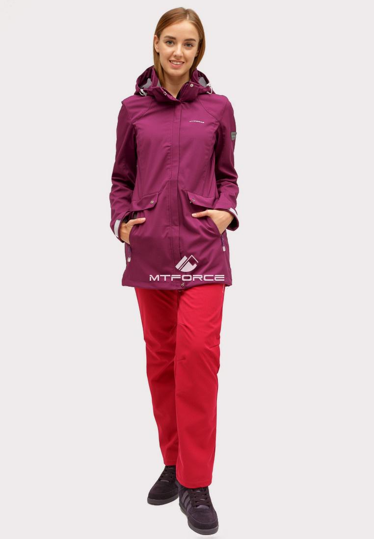Купить оптом Костюм женский softshell темно-фиолетового цвета 018125TF в Нижнем Новгороде