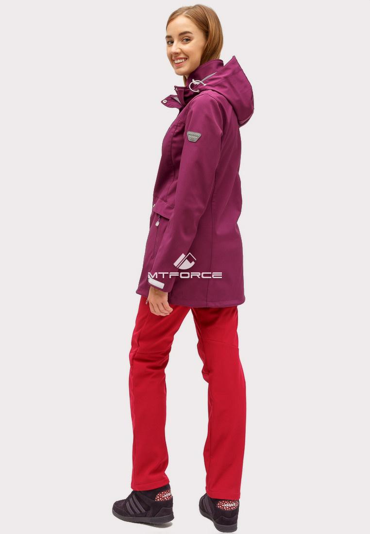 Купить оптом Костюм женский softshell темно-фиолетового цвета 018125TF