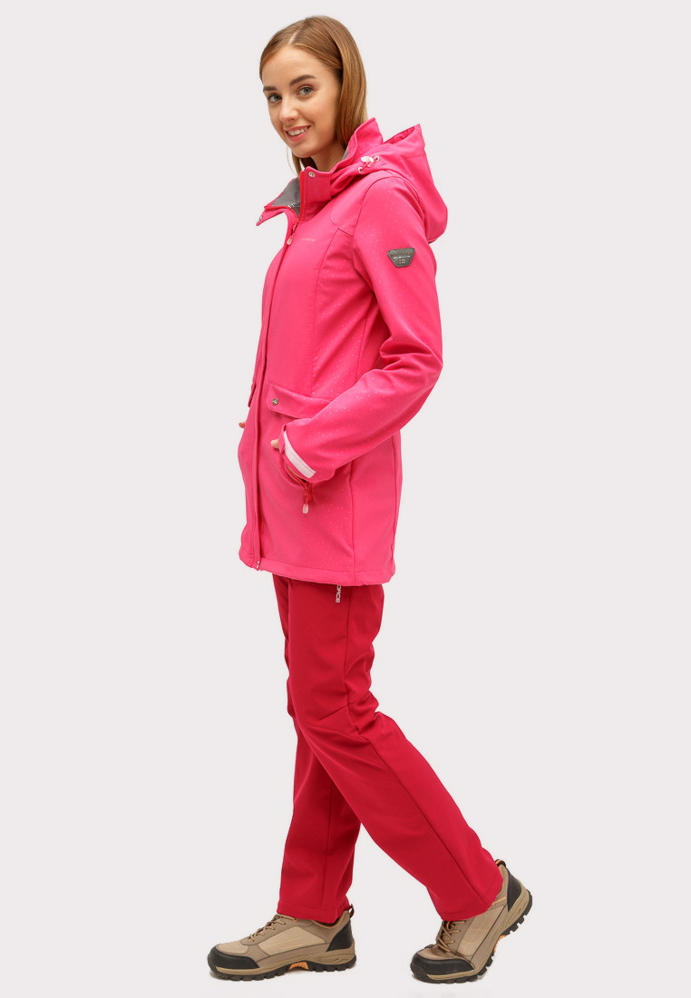 Купить оптом Костюм женский softshell малинового цвета 018125M