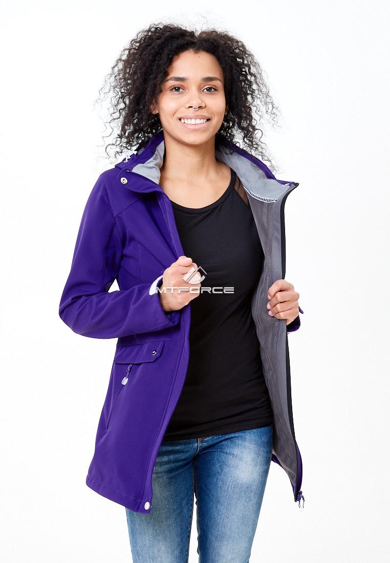 Купить оптом Ветровка softshell женская фиолетового цвета 18125F