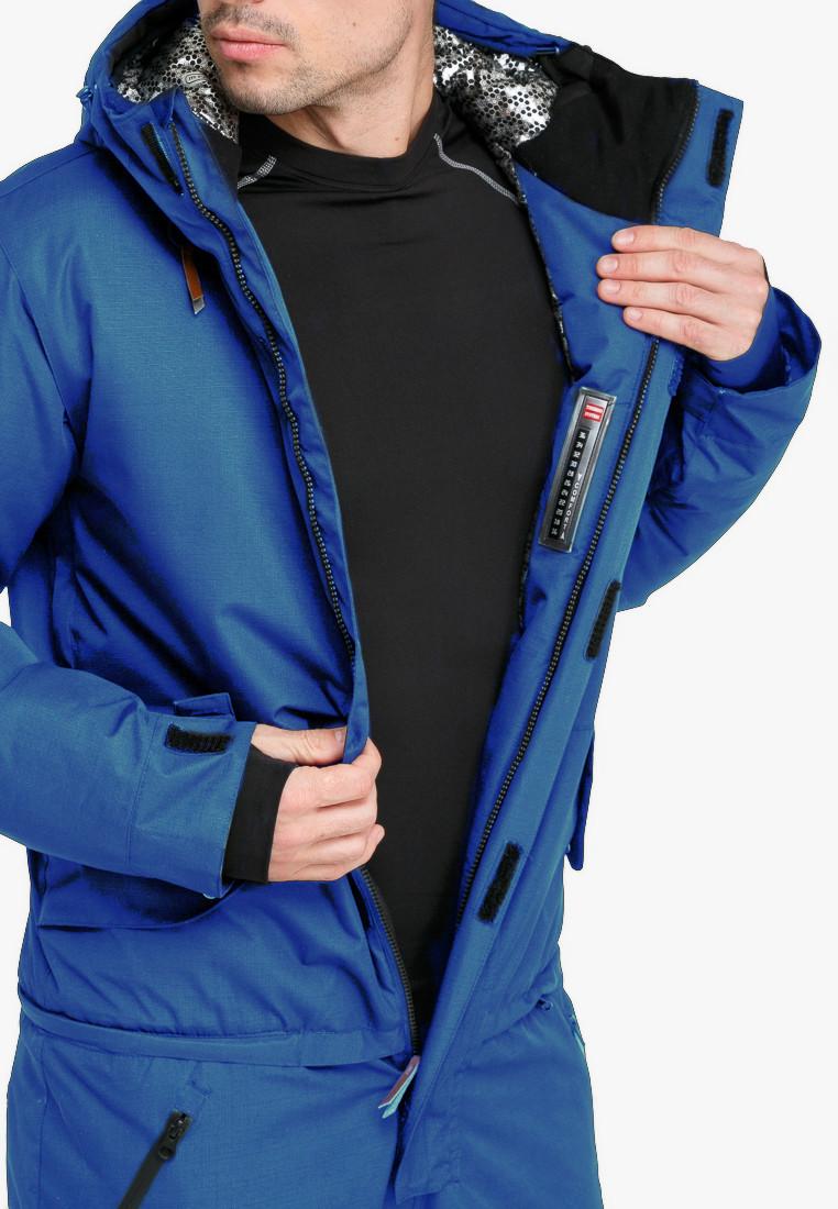 Купить оптом Комбинезон горнолыжный мужской голубого цвета 18126Gl в Воронеже