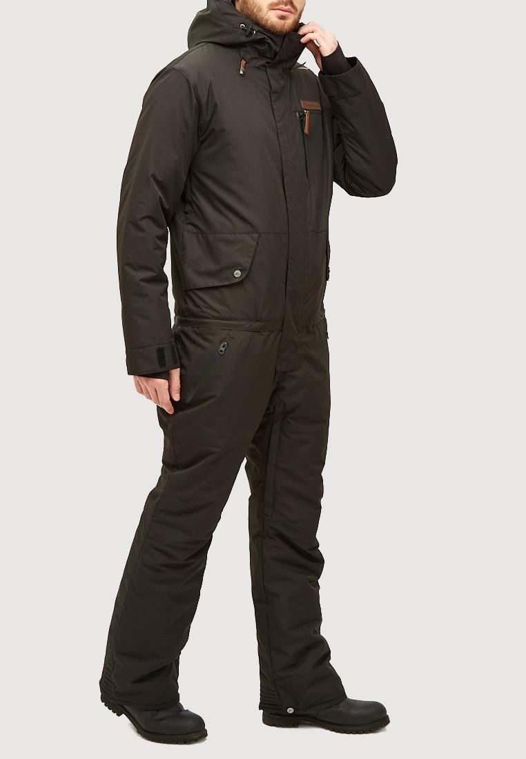 Купить оптом Комбинезон горнолыжный мужской черного цвета 18126Ch