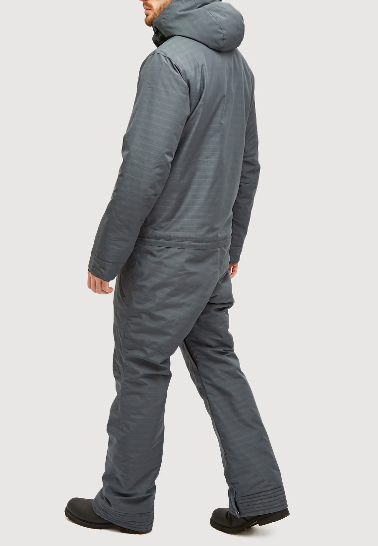 Купить оптом Комбинезон горнолыжный мужской темно-серого цвета 18126TC в Воронеже