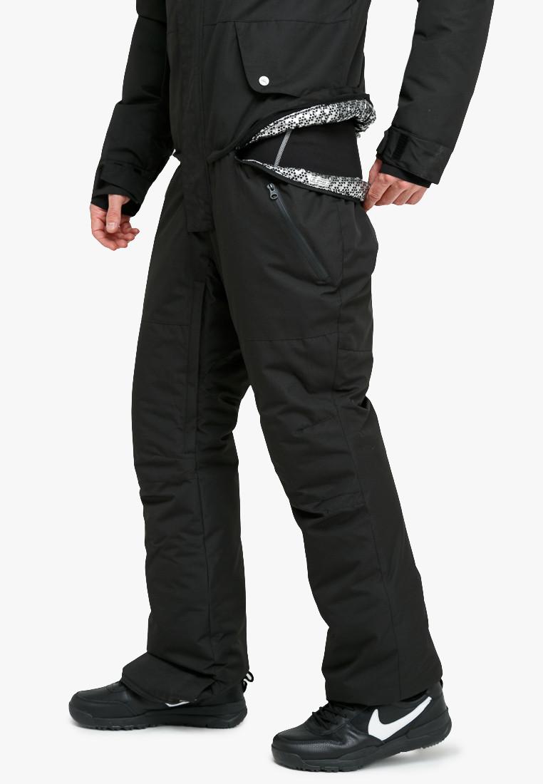 Купить оптом Комбинезон горнолыжный мужской черного цвета 18126Ch в Самаре