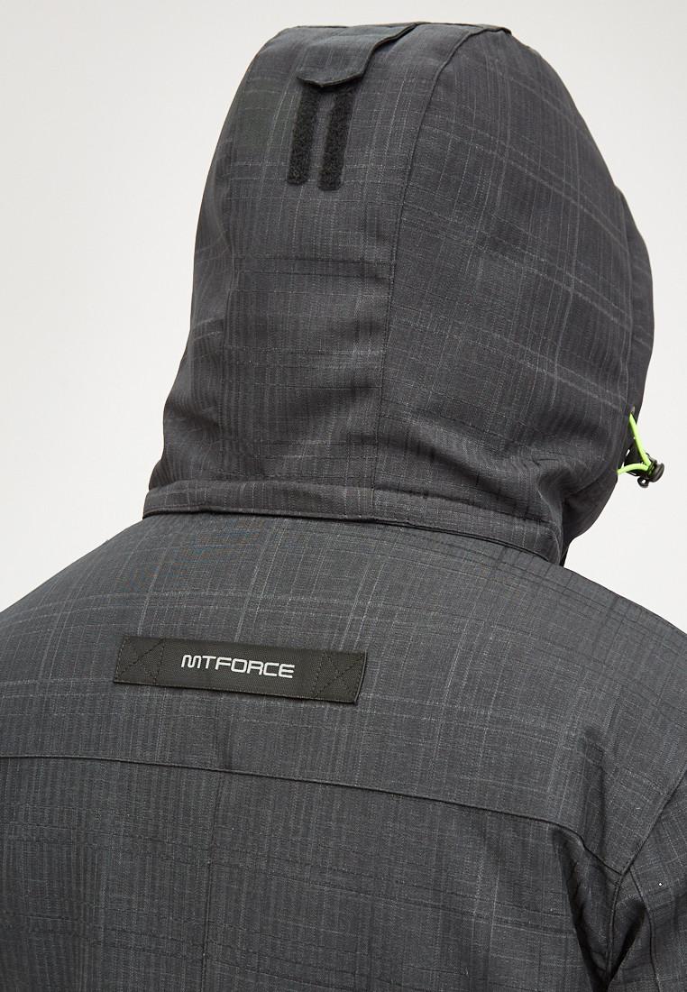 Купить оптом Мужская зимняя горнолыжная куртка черного цвета 18128Сh