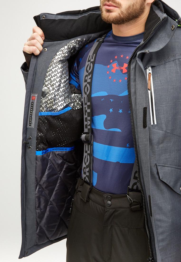 Купить оптом Мужская зимняя горнолыжная куртка серого цвета 18128Sr