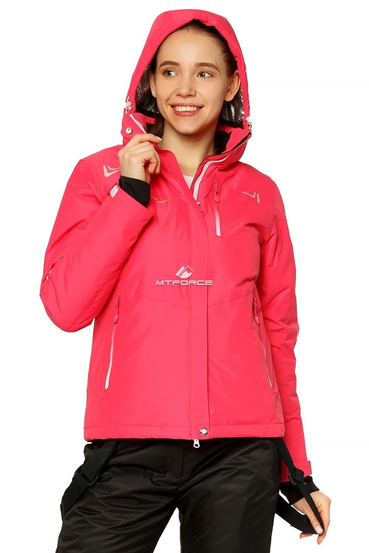 Купить оптом Куртка горнолыжная женская розового цвета 1812R