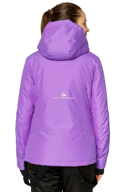 Купить оптом Куртка горнолыжная женская фиолетового цвета 1812F в Воронеже