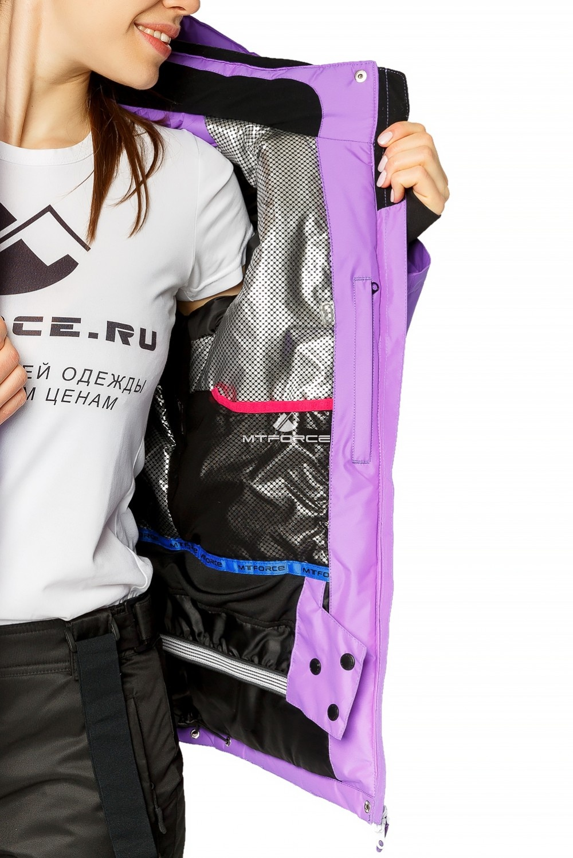 Купить оптом Куртка горнолыжная женская фиолетового цвета 1812F в  Красноярске