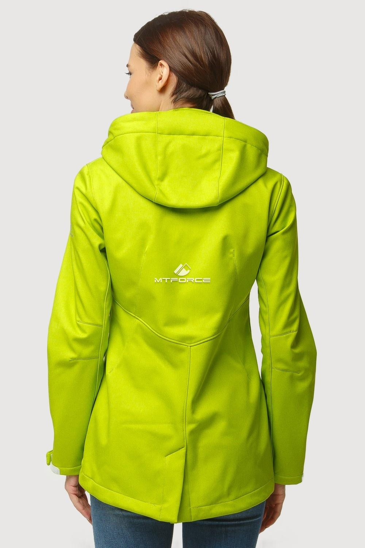 Купить оптом Ветровка softshell женская осень весна салатового цвета 1815Sl