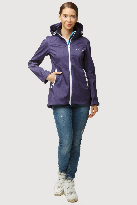 Купить оптом Ветровка softshell женская осень весна темно-фиолетового цвета 1815TF