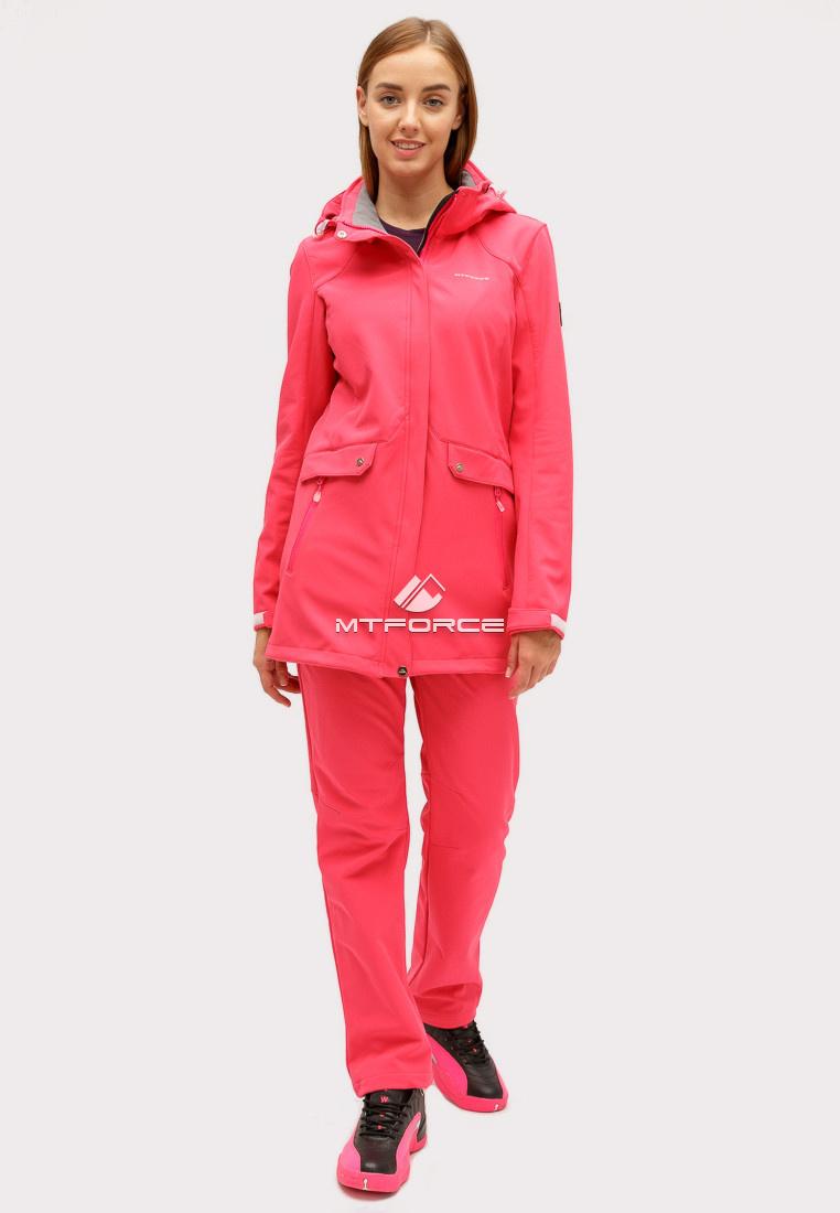 Купить оптом Костюм женский softshell розового цвета 018125R