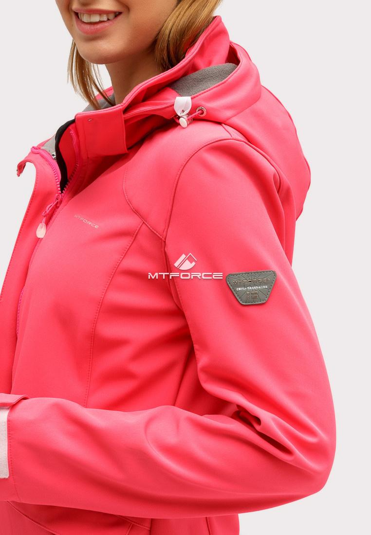 Купить оптом Ветровка softshell женская розового цвета 18125R в Омске