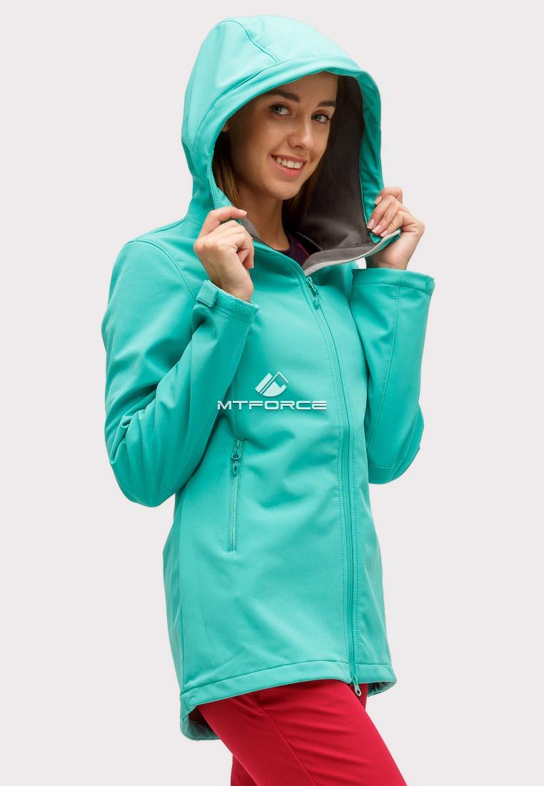 Купить оптом Ветровка softshell женская зеленого цвета 1816-1Z в Самаре