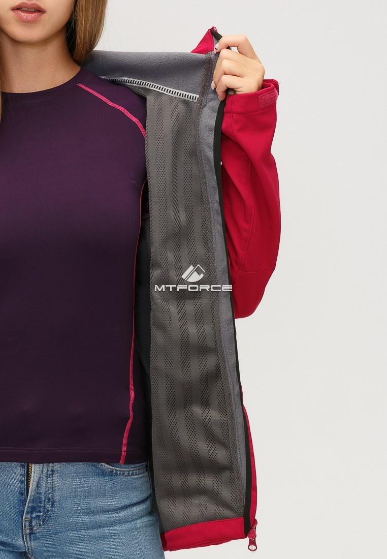 Купить оптом Ветровка softshell женская бордового цвета 1816-1Bo в Уфе