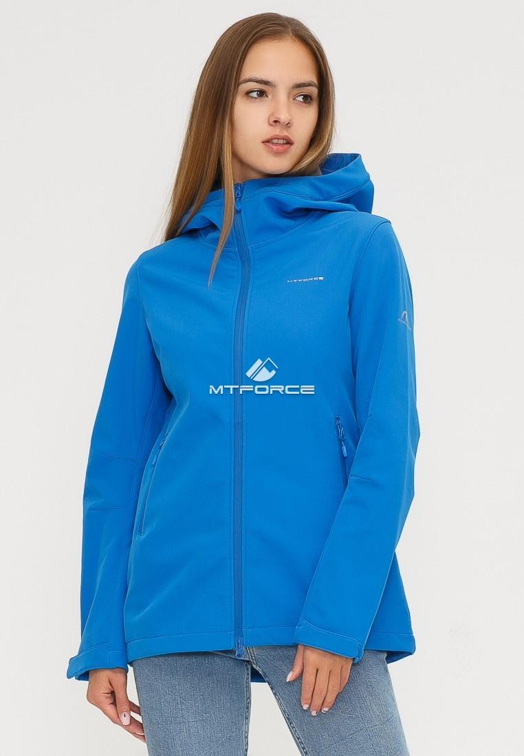 Купить оптом Ветровка softshell женская синего цвета 1816-1S в Нижнем Новгороде