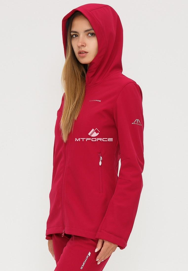 Купить оптом Костюм женский softshell бордового цвета 01816-1Bo в Екатеринбурге