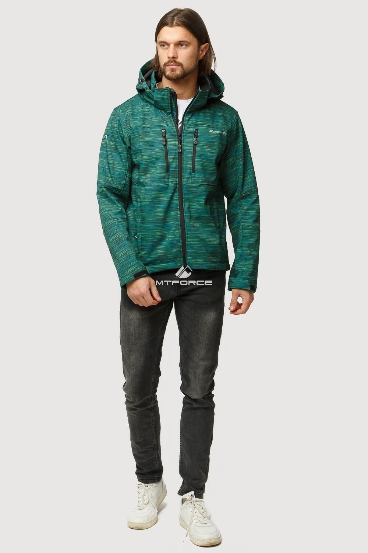 Купить                                      оптом Ветровка softshell мужская осень весна темно-зеленого цвета 1817TZ