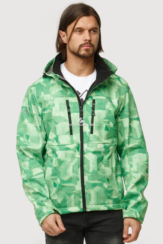 Купить оптом Ветровка softshell мужская осень весна зеленого цвета 1817Z