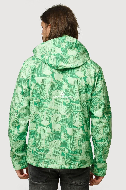 Купить оптом Ветровка softshell мужская осень весна зеленого цвета 1817Z в Нижнем Новгороде