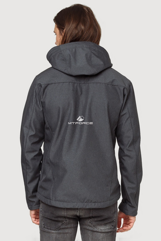 Купить оптом Ветровка softshell мужская осень весна темно-серого цвета 1819TC в Казани
