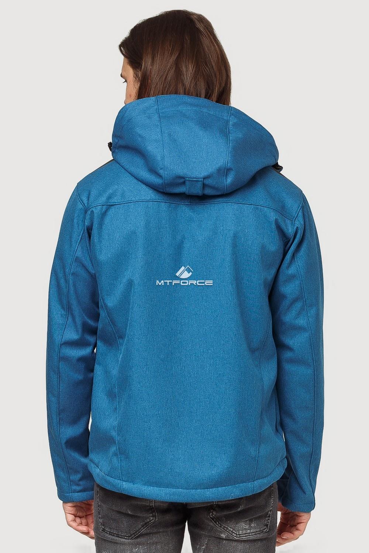 Купить оптом Ветровка softshell мужская осень весна синего цвета 1819S