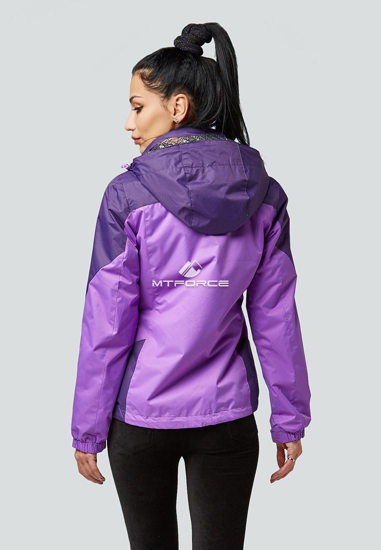 Купить оптом Курка спортивная женская (плащёвка new 2019) фиолетового цвета 1821F в Екатеринбурге