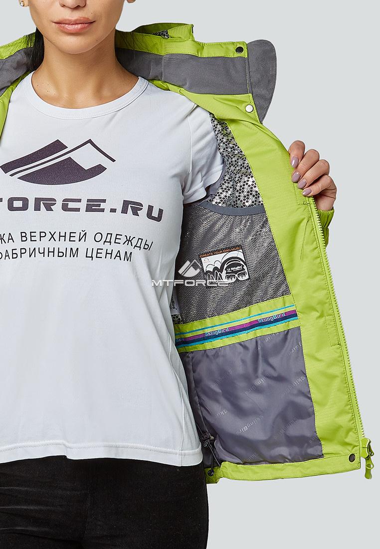 Купить оптом Курка спортивная женская (плащёвка new 2019) фисташкового цвета 1822FT в Новосибирске