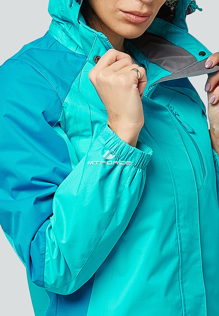Купить оптом Курка спортивная женская (плащёвка new 2019) голубого цвета 1822Gl в Казани