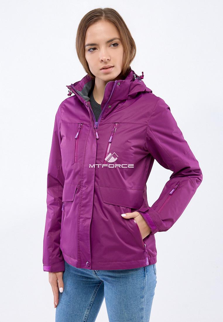 Купить оптом Курка спортивная женская (плащёвка new 2019) фиолетового цвета 1825F