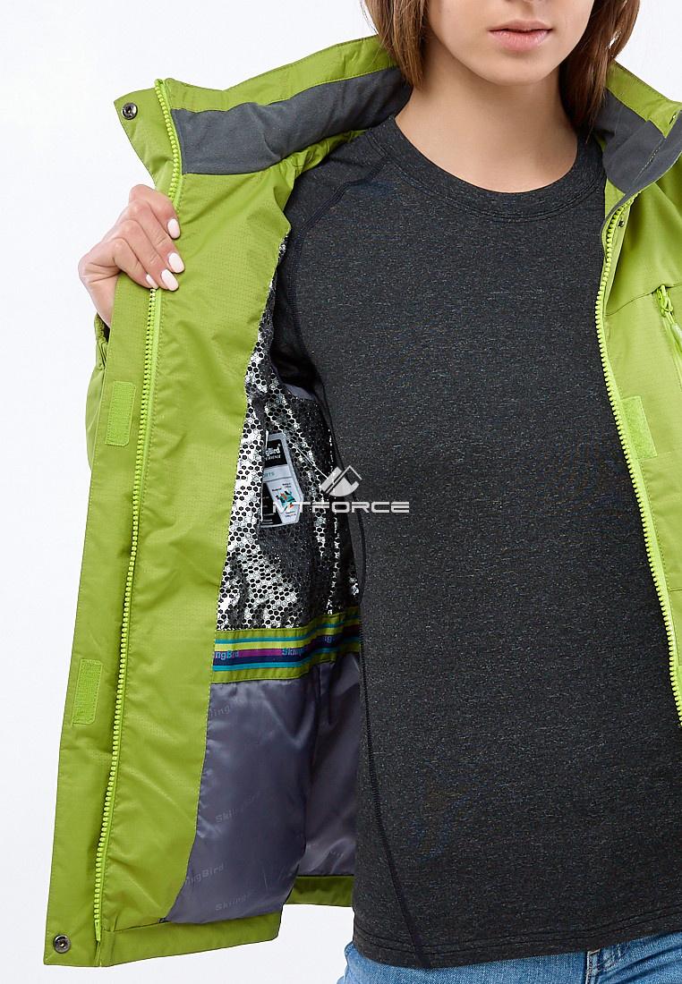 Купить оптом Курка спортивная женская (плащёвка new 2019) фисташкового цвета 1825FT в Омске