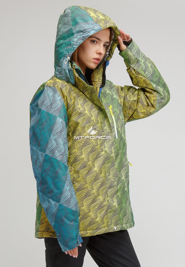 Купить оптом Костюм горнолыжный женский большого размера салатового цвета 01830-2Sl