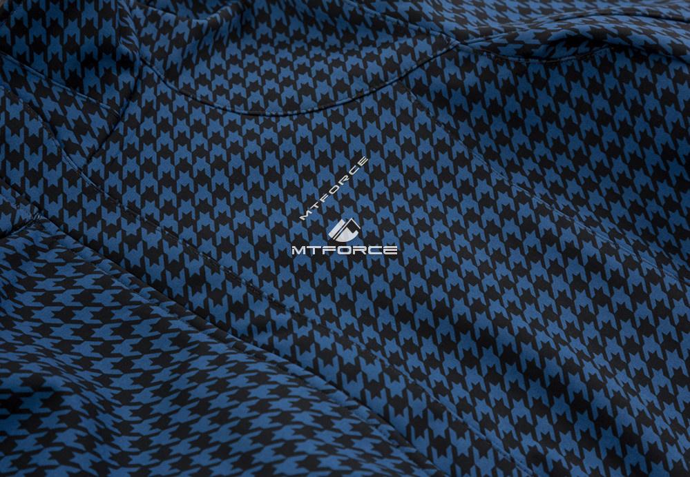 Купить оптом Ветровка softshell женская большого размера синего цвета 1833S в Омске