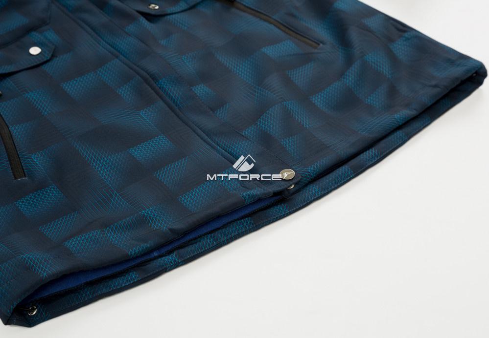 Купить оптом Ветровка softshell женская большого размера темно-синего цвета 1833TS