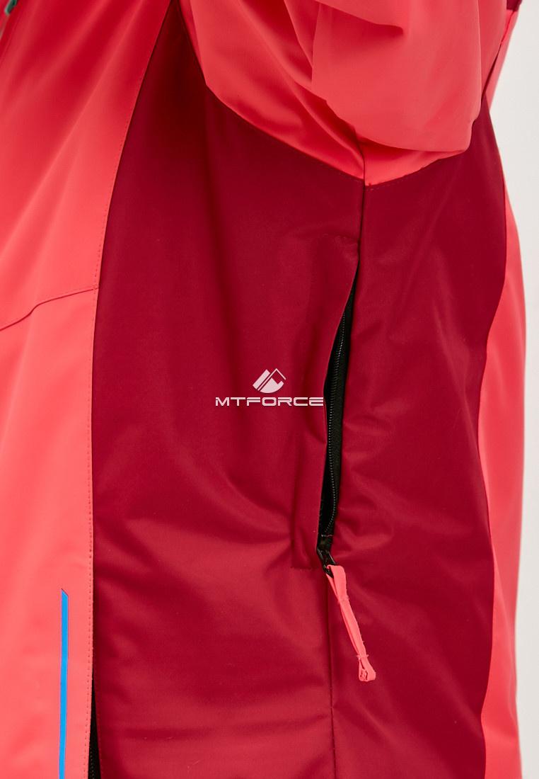 Купить оптом Женский зимний горнолыжный костюм большого размера розового цвета 01850R